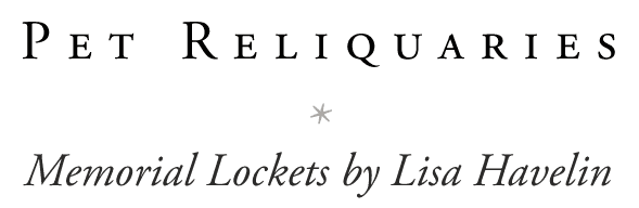 Pet Reliquaries by Lisa Havelin Retina Logo