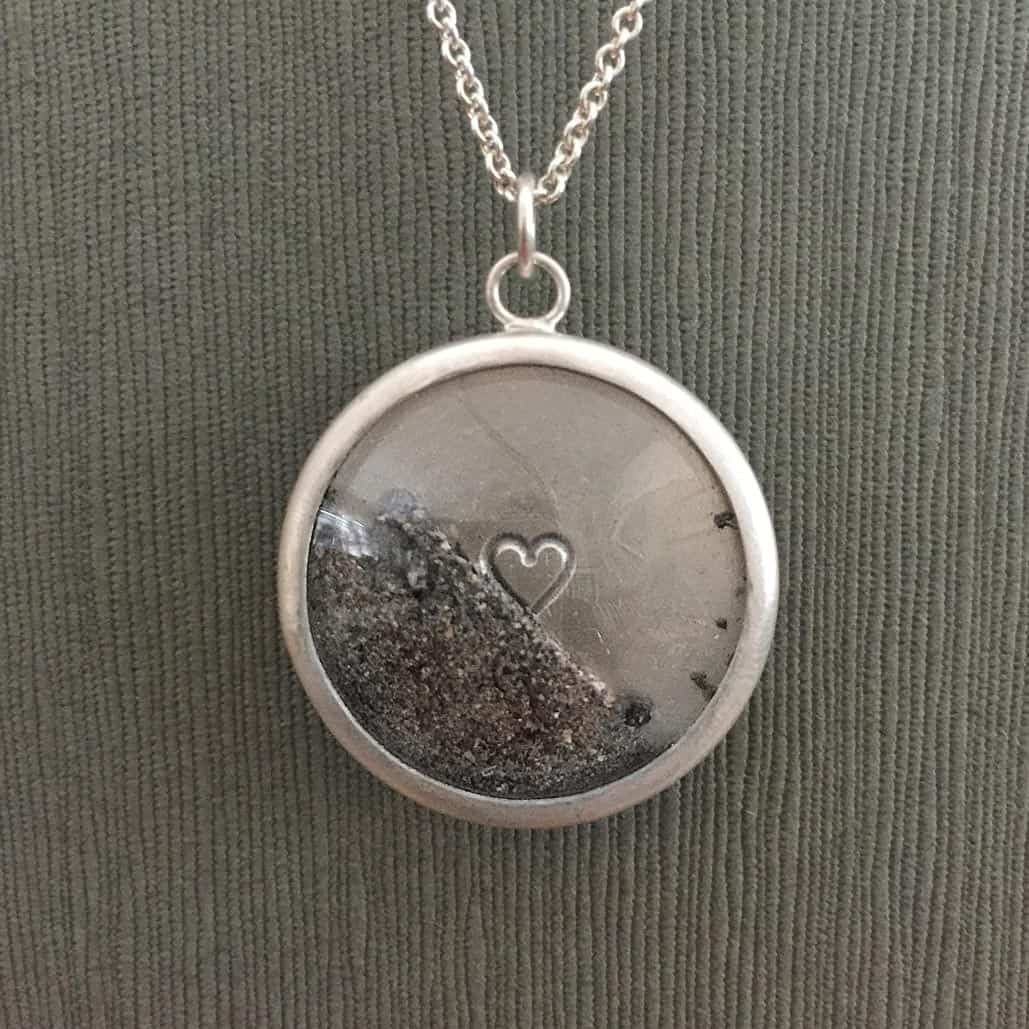 Sterling silver reliquary with glass lens and stamped details pet pet memorial charm with glass lens sterling silver includes hair or ash aloadofball Choice Image